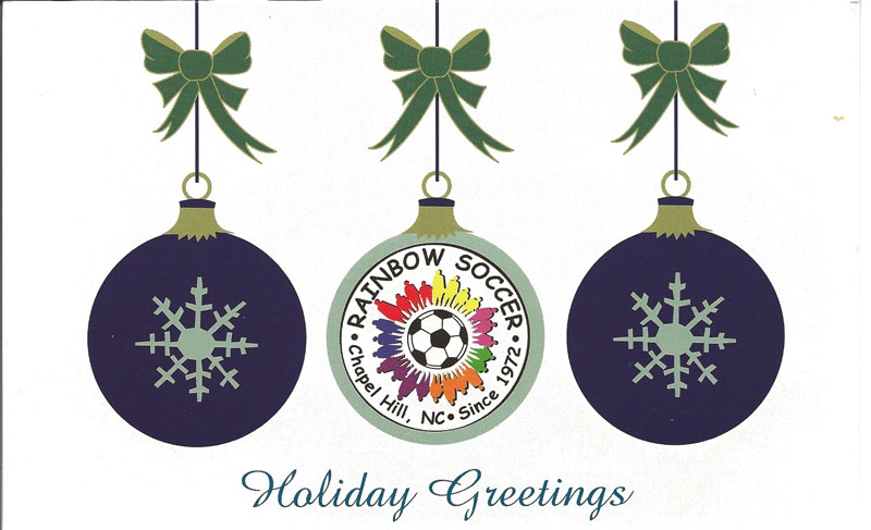 From all of us at Rainbow Soccer...